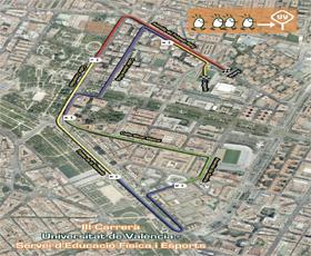 Más de 7.000 corredores inundan el Campus de Blasco Ibañez de La Universitat de Valencia